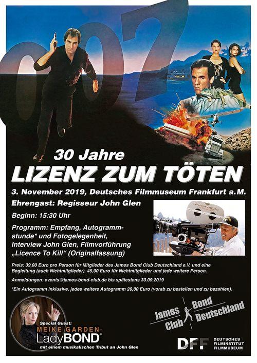 30 Jahre Lizenz zum Töten @ Deutsches Filmmuseum Frankfurt